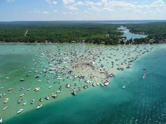 TorchLakeSandbar 2020 07 04 ph Michigan State Police