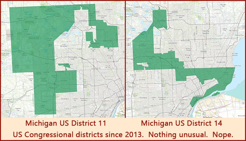 Michigan US Congressional Districts 11 and 14 800w458h