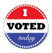 I Voted Button 180w184h