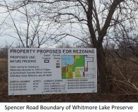 Whitmore Lake Preserve Spencer Rd sign 3 360w